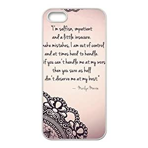 diy zhengMarilyn Monroe Quote Phone Case for Ipod Touch 4 4th Case