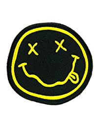 Nirvana Smiley Face Band Patch Iron on Applique Alternative Grunge Clothing