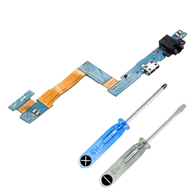 MMOBIEL Dock Connector Charging Port Compatible with Samsung Galaxy Tab 3 10.1 in P5200 P5210 Flexcable incl Screwdriver