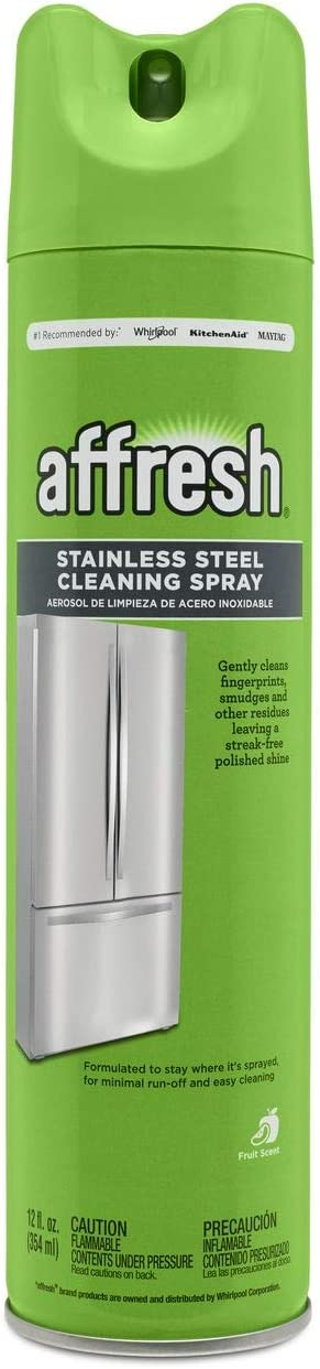 affresh W11042467M2 Cleaning Spray 2 Pack Stainless Steel Cleaner