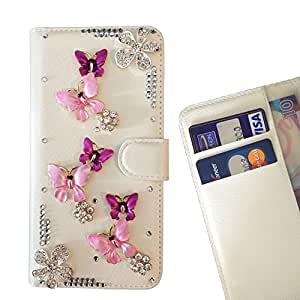 Butterfly Flower Pink Crystal Diamond Waller Leather Case Cover 3D Bling For Huawei P9 /Enjoy 5S / G8 MiniHuawei P9 /Enjoy 5S / G8 Mini /- THE- /