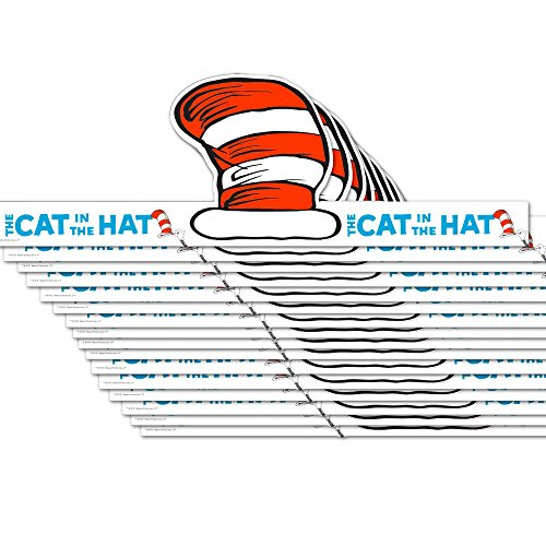 Dr. Seuss Cat in the Hat Party Hats, 16 Count, Party Supplies (Make Dr Seuss Hat)