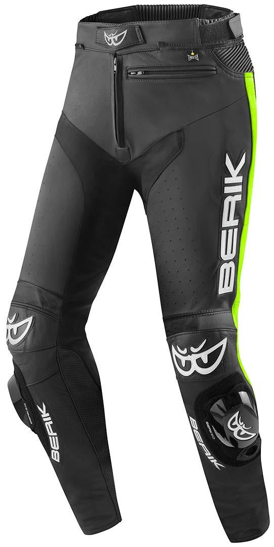 Berik Track Motorrad Lederhose Schwarz//Wei/ß 50