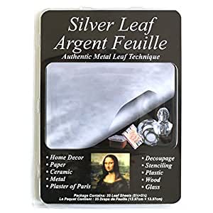 Speedball Mona Lisa Composition Silver Leaf, 25 Sheet Pack