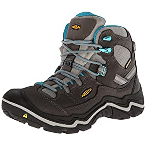 KEEN Women's Durand Mid WP Hiking Boot, Gargoyle/Capri Breeze, 9 M US