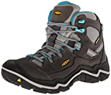 KEEN Women's Durand Mid Waterproof Hiking Boot, Gargoyle/Capri Breeze, 6 M US