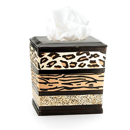 Popular Bath Tissue Box, Jezella Collection, Animal Print