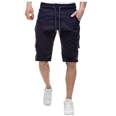 Pantalones Cortos Hombre Verano Casual Moda Trabajo Corta ...