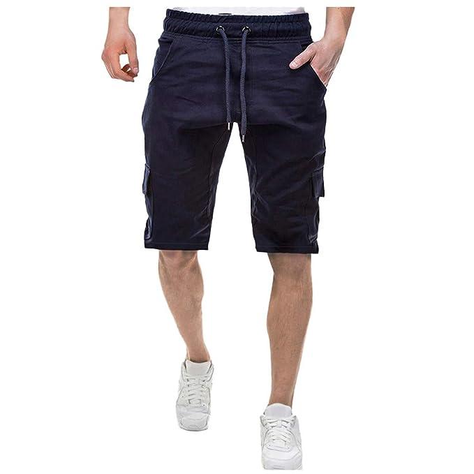 MXJEEIO Pantalón de Deporte de los Hombres Pantalones Hombre Moda ...