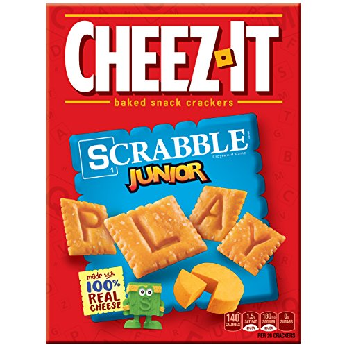 Cheez-It Baked Snack Crackers Scrabble Junior Original, 12.4 Ounce