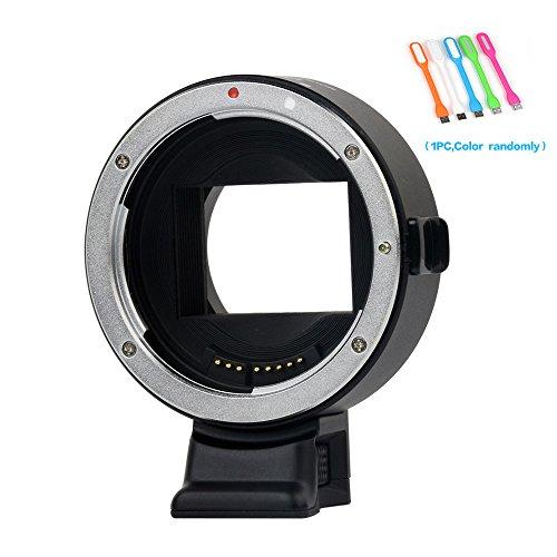 VILTROX EF-NEX IV Auto Focus Lens Mount Adapter for Canon EF/EF-S Lens for Sony A9 A7S A7II A7SII A7RII A7R A6300 support Full-frame PDAF CDAF by VILTROX