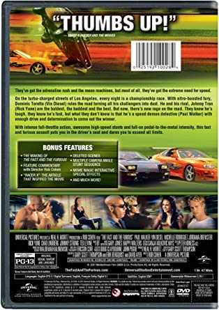 Amazon.com : The Fast and the Furious (DVD-The Original) : Everything Else