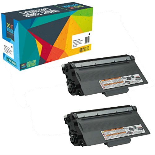 Do it Wiser Compatible Toner Cartridge TN750 for Brother MFC-8710DW HL-5470DW HL-5450DN HL-6180DW HL 5440D MFC-8510DN MFC-8710DW MFC-8910DW MFC-8950DW DCP-8110DN DCP-8150DN DCP-8155DN - 2 Pack