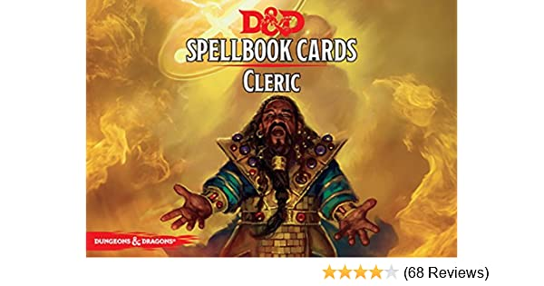 Gale Force Nine GF973902 Dungeons and Dragons Cleric Spell Deck Game (106  Cards)