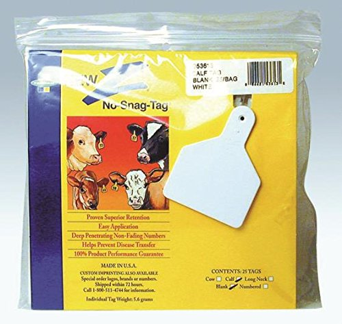 Z TAGS BLANK EAR TAGS - 25 - Ztag Blank White
