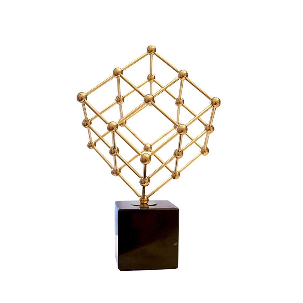コーヒーテーブルの装飾食器テーブルのためのセンターピースリビングルームの装飾現代の創造的なミニマリストの家のリビングルームのポーチの幾何学ビーズの装飾品研究机デスク装飾 (Color : METALLIC, Size : 28*25*23CM) B07RWDPWQZ METALLIC 28*25*23CM