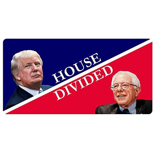 House Divided Donald Trump/Bernie Sanders Funny Decal Sticker | Political Bumper ()