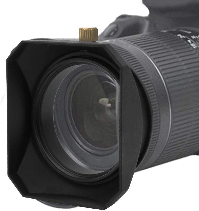 Pomya Camera Lens Hood 58MM Lens Filter Square Lens Hood Shade Accessory for Mirrorless Cameras Digital Video Camera