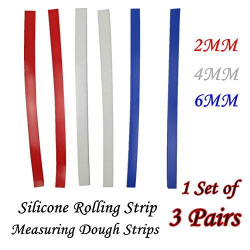 Jk Adams Novelty Board (YJYdada 1 Set Silicone Rolling Strip Silicone Measuring Dough Strips/Perfection Strips)