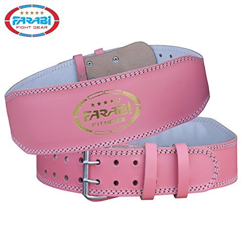 Farabi Weight Lifting Belt Gym Fitness Back Support Pink (Small)