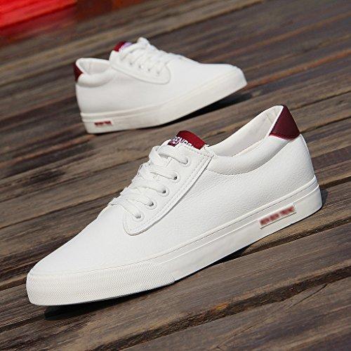 basse Scarpe Scarpe di da YaNanHome scarpe da Color ginnastica da Size scarpe Espadrillas 40 uomo Red uomo Gray coreane tela CwxqX15X