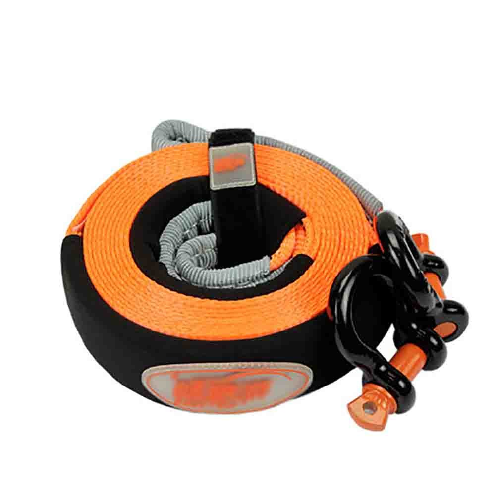 XIAOYA Gü rtel Tow Recovery Seilwinde Snatch Strap Kit Mit D Ring Fesseln, Off Road ATV/Auto-Seil, Aufbewahrungstasche,5M5tons