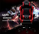 New Gaming Chair PU Leather Computer Desk Office Chair-Executive and Ergonomic Style Swivel Chair with Adjustable Massage Lumbar Cushion, Headrest and Footrest.
