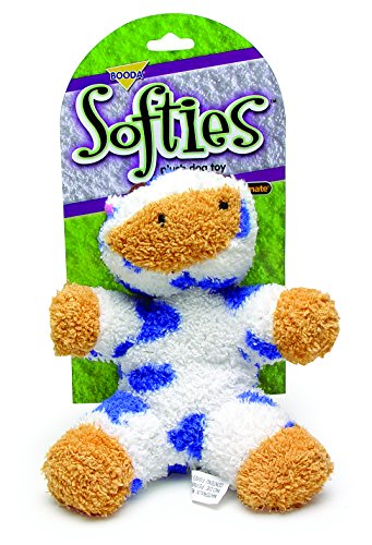 Petmate Softies Cow Toy for Dog, Medium (Softies Terry)