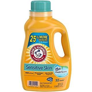 Arm & Hammer Sensitive Skin Plus Fresh Scent Liquid Laundry Detergent, 32 Loads