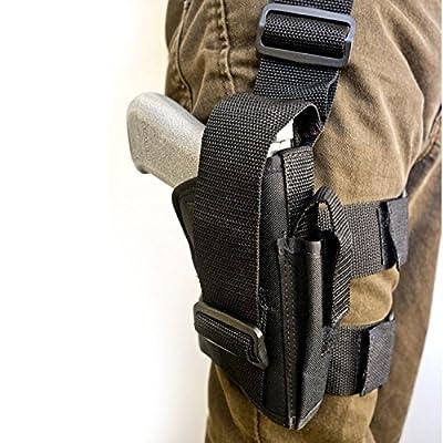 Tactical Holster/Leg Holster/Drop Leg Bag/Gun Holster,Freehawk Military Adjustable Right Leg Handgun Holster Pouch Airsoft Gun Holder Pistol Pack/Pouch/Case Bag for Hunting,Gun Training