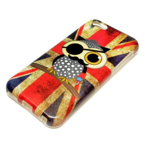 DeinPhone coque de protection pour apple iPhone 5C cASE coque en silicone motif chouette/drapeau britannique