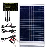 SUNER POWER 10W 20W 30W 50W Solar Panel Kit + 10A Photocell Waterproof Charge Controller+ SAE Connection Cable Kis