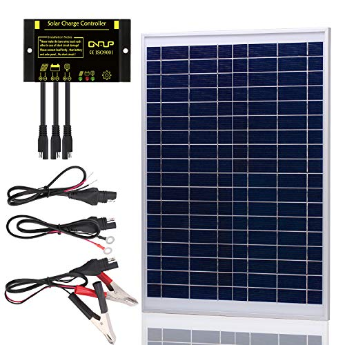 - SUNER POWER [Upgraded] 20 Watts 12V Off Grid Solar Panel Kit - Waterproof 20W Solar Panel + Photocell 10A Solar Charge Controller with Work Time Setting + SAE Connection Cable Kits