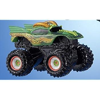 "2.25"" Monster Jam Lime Green Dragon Truck Decorative Christmas Ornament"