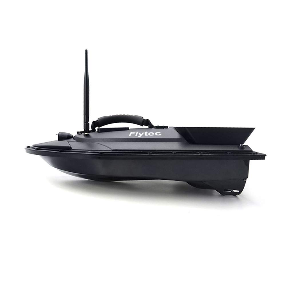 Aumee 2.4GHz RC Boat, Double Motors Two Separate Bait Tanks Electric Radio Bait Fish Finder for Pool & Outdoor Adventure Use to Kids Or Adults (Black) by Aumee (Image #1)