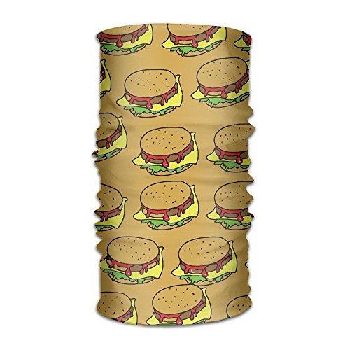 Unisex Stylish Hamburger Junk Food Quick Dry Microfiber Headwear Outdoor Magic Bandana Neck Gaiter Head Wrap Headband Scarf Face Mask Ultra Soft Elastic - Kangol Buy