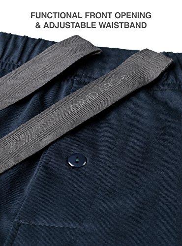 David Archy Men's Soft Comfy Cotton Knit Sleep Shorts Lounge Wear Pants