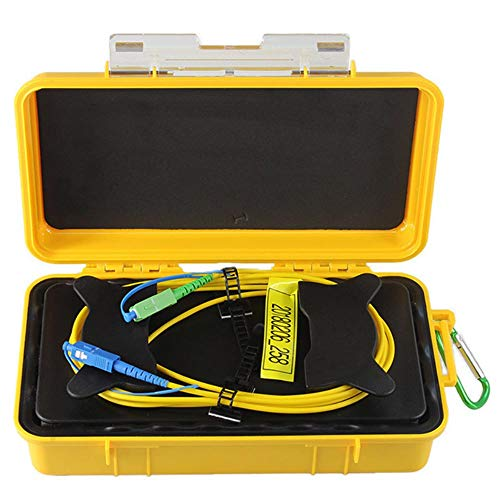 eTayson Fiber Optic OTDR Launch Cable Box G652D Singlemode 9/125 SC/UPC-SC/APC Connector Dead Zone Eliminator Fiber Box (1000M) ()