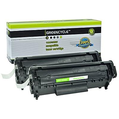 GREENCYCLE 2 Pack Compatible FX-10 FX-9 104 Toner Cartridge For Canon 104 Toner Faxphone Printer L90 L120 LBP-2900 LBP-3000