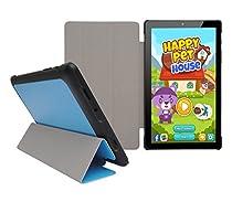"Insignia Flex 8"" NS-P08A7100 Tablet Slim Shell Case - iShoppingdeals Ultra Slim Lightweight Tri Fold Standing Cover for Insignia Flex 8"" NS-P08A7100 Tablet 2016 Release - Denim Blue"
