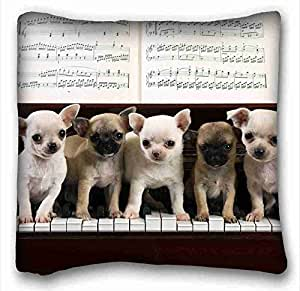 Custom Characteristic Animal Custom Cotton & Polyester Soft Rectangle Pillow Case Cover 16x16 inches (One Side) suitable for King-bed