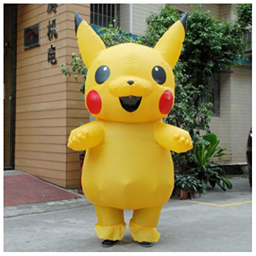 Art Stone Holiday Costumes (Adult Mascot Pikachu Inflatable Costume Cosplay Halloween Funny Dress)
