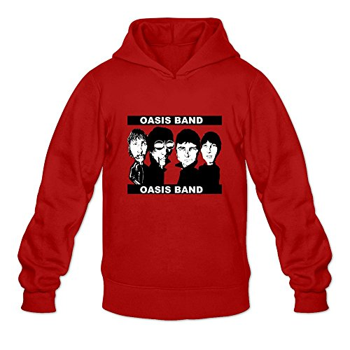DASY Men's O-neck Oasis Band Hoody Large Red