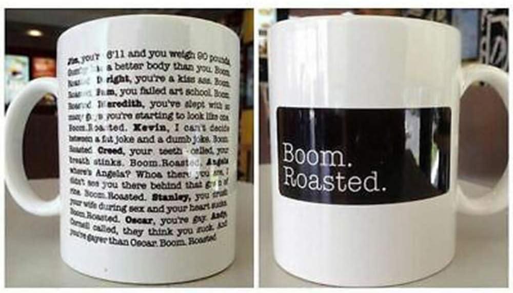 Boom Roasted Legendary Michael Scott's The Office Roasting SceneCoffee Mug (15oz)