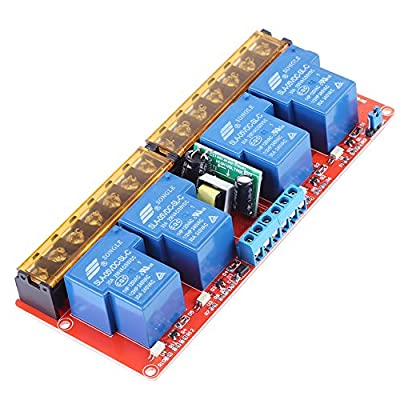 AC100V-250V 30A High Power 4-Channel Relay DC5V High-low Level Trigger Switch Module for Arduino
