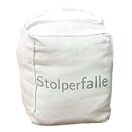 Cube Bean Bag Door Stop With Message 22 Cm Stolperfalle: Amazon.co.uk:  Kitchen U0026 Home
