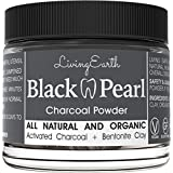 Black Pearl Activated Charcoal Teeth Whitening - Organic & All Natural - Freshens Breath - Remineralizing Tooth Powder - Anti-Bacterial - Made In USA - Glass Jar