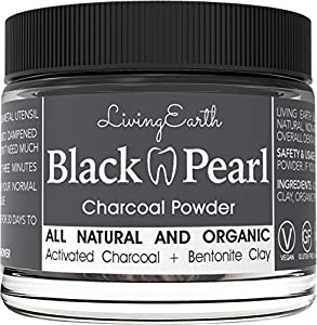 Black Pearl Activated Charcoal Powder Natural Teeth Whitening & Ultra Breath Freshener | Organic & All Natural | NON Abrasive, No Chemicals, NO Fillers NON Synthetic, and Lab tested | More Effective than teeth whitening strips, gels, and most...