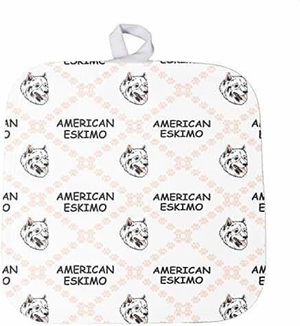 American Eskimo Dog Paws Kitchen Bar Oven Mitt