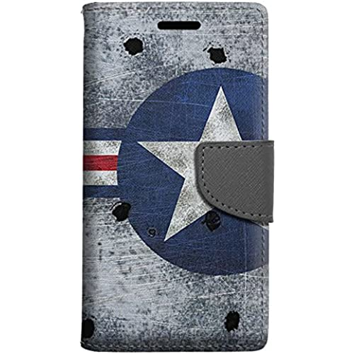 Samsung Galaxy S7 Edge Wallet Case - Shot up USAF War Plane Air Force Case Sales